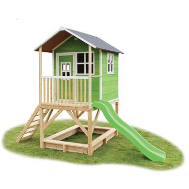 Spielhäuser und Sandkästen - EXIT Holzspielhaus Loft 500, grün  - Onlineshop Babymarkt