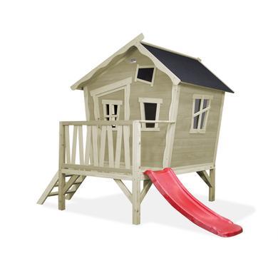 Spielhäuser und Sandkästen - EXIT Holzspielhaus Crooky 300, grau  - Onlineshop Babymarkt