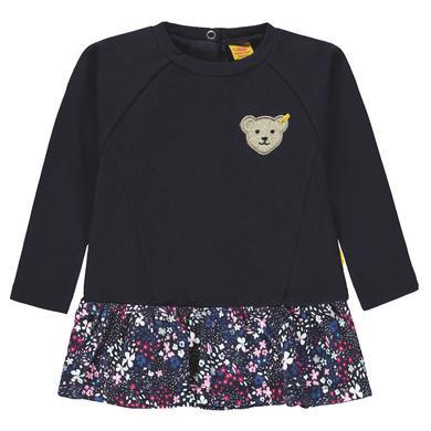Steiff Girls Sweatshirt, marine Blümchen