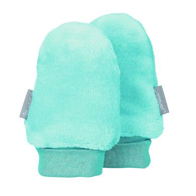 Babyaccessoires - Sterntaler Kratzfäustel Teddyflausch eisblau – Gr.Größe 1 – Unisex - Onlineshop Babymarkt