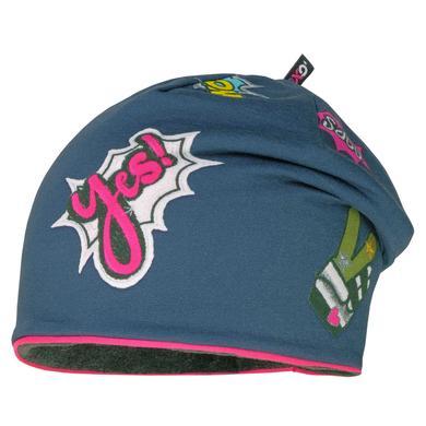Minigirlaccessoires - maximo Girls Beanie graphitblau–pink - Onlineshop Babymarkt