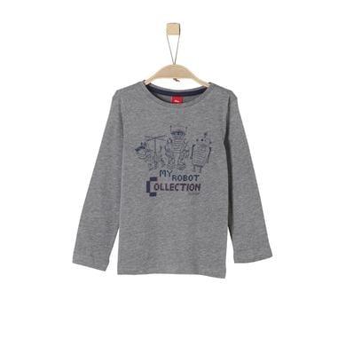 Miniboyoberteile - s.Oliver Boys Langarmshirt dunkel grau melange - Onlineshop Babymarkt