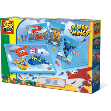 SES Creative ® Mosaikbrett mit Super Wings-Karten