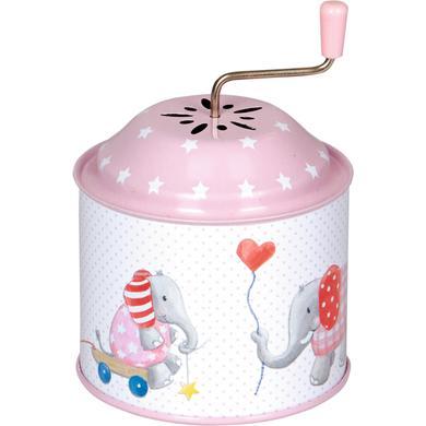 Coppenrath Spieluhrdose Elefant BabyGlück, rosa - rosa/pink