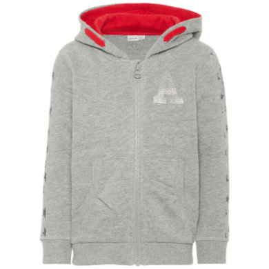 Minigirljacken - name it Girls Sweatjacke Filana grey melange – grau – Gr.Kindermode (2 – 6 Jahre) – Mädchen - Onlineshop Babymarkt