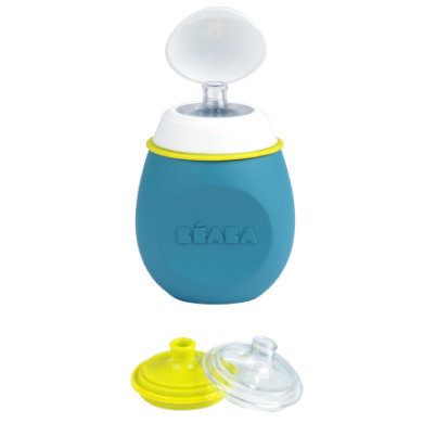 Image of BEABA Babyflasche Babysqueez´ 2 in 1 blau 180 ml