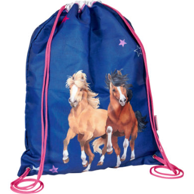 Coppenrath Sportbeutel Pferdefreunde blau