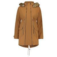bellybutton Manteau de grossesse hiver à capuche bordeaux