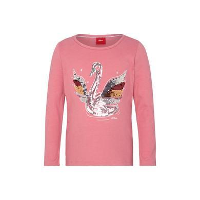 Minigirloberteile - s.Oliver Girls Langarmshirt pink Swan - Onlineshop Babymarkt