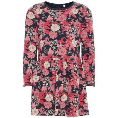 Minigirlroeckekleider - name it Girls Kleid Vanya dark sapphire AOP – rosa pink – Gr.110 – Mädchen - Onlineshop Babymarkt
