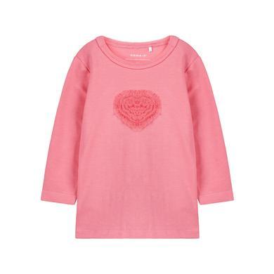 name it Girls Langarmshirt Ova bubblegum rosa pink Gr.Newborn (0 6 Monate) Mädchen