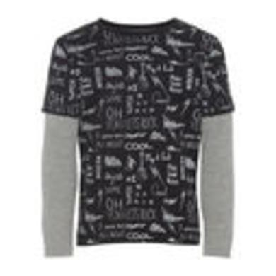 Miniboyoberteile - name it Boys Langarmshirt Nmmolando schwarz - Onlineshop Babymarkt