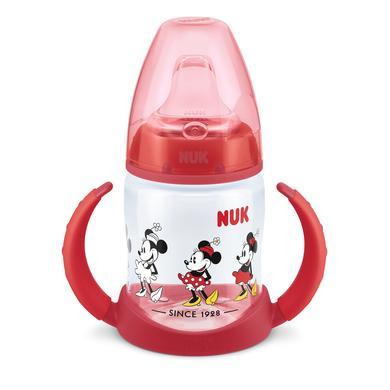 NUK Trinklernflasche First Choice Mickey und Minnie Maus ab dem 6. Monat 150 ml rot