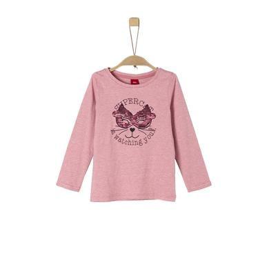 Minigirloberteile - s.Oliver Girls Langarmshirt pink melange - Onlineshop Babymarkt