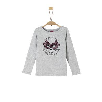 Minigirloberteile - s.Oliver Girls Langarmshirt grey melange - Onlineshop Babymarkt