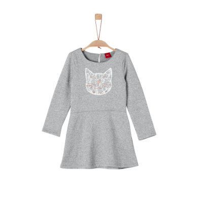 Minigirlroeckekleider - s.Oliver Girls Kleid grey melange – grau – Gr.116 – Mädchen - Onlineshop Babymarkt