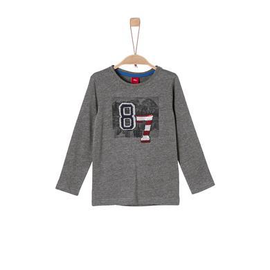 Miniboyoberteile - s.Oliver Boys Langarmshirt grey melange - Onlineshop Babymarkt