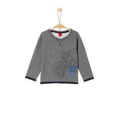 Miniboyoberteile - s.Oliver Boys Sweatshirt grey melange - Onlineshop Babymarkt