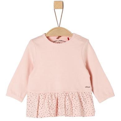 s.Oliver Girls Langarmshirt pink festlich rosa pink Gr.Newborn (0 6 Monate) Mädchen