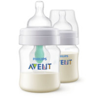 2er Pack Philips Avent Anti-colic Flasche SCF813//27 transparent mit AirFree Ventil kompatibel 260ml