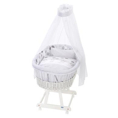 Stubenwagen und Wiegen - Alvi ® Komplettstubenwagen Birthe weiß 972 9 Hippo silber  - Onlineshop Babymarkt