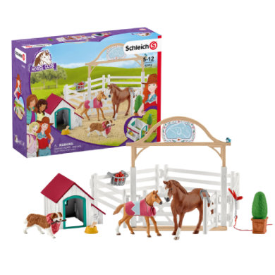 Schleich Horse Club 42458 Hannahs guest horses with Ruby