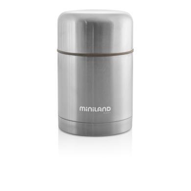 miniland steel food thermos Thermobehälter grau 600ml