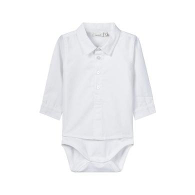 Babywaesche - name it Boys Body Rifus bright white – weiß – Gr.62 – Jungen - Onlineshop Babymarkt