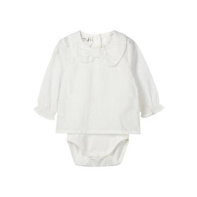 Babywaesche - name it Girls Body Ragnhild snow white – weiß – Gr.56 – Mädchen - Onlineshop Babymarkt