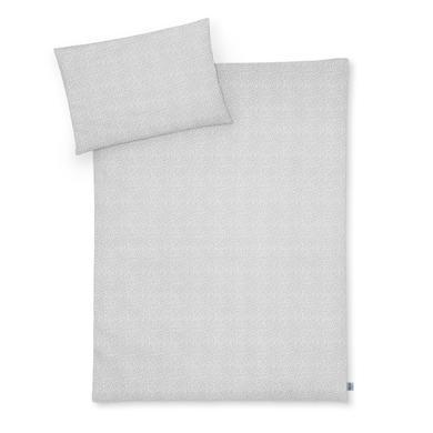 Kindertextilien - JULIUS ZÖLLNER Bettwäsche Tiny Squares Grey 100 x 135 cm  - Onlineshop Babymarkt