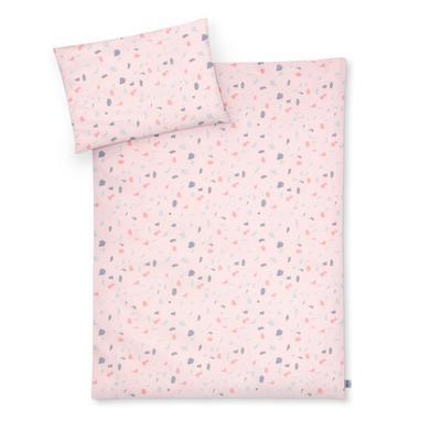 Kindertextilien - JULIUS ZÖLLNER Bettwäsche Terrazzo Blush 100 x 135 cm bunt  - Onlineshop Babymarkt