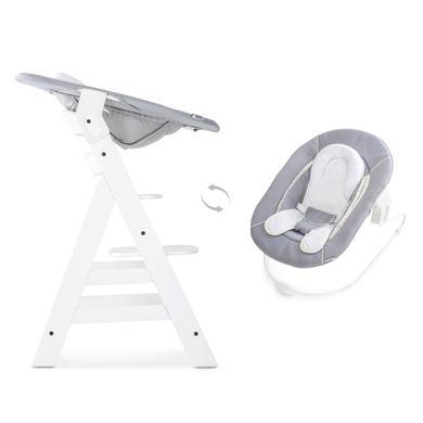 Hochstühle - hauck Hochstuhl Alpha Plus White inklusive Bouncer Stretch Grey  - Onlineshop Babymarkt
