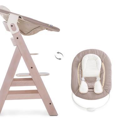 Hochstühle - hauck Hochstuhl Beta Plus Whitewashed inklusive Bouncer 2in1 Stretch Beige beige  - Onlineshop Babymarkt