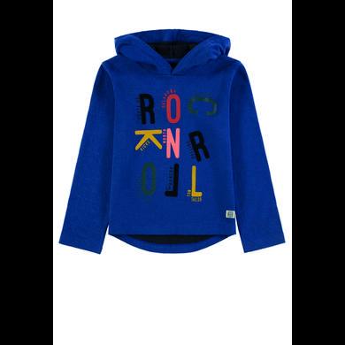 Miniboyoberteile - TOM TAILOR Boys Langarmshirt mit Kapuze, blau - Onlineshop Babymarkt