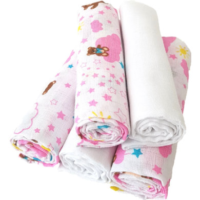 HÜTTE  CO gázové utěrky 5-pack cloud Girls