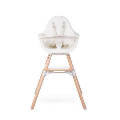 Hochstühle - CHILDHOME Hochstuhl Evolu ONE.80° natur weiß 2 in 1 Ring  - Onlineshop Babymarkt