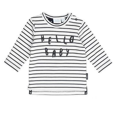 Babyoberteile - Feetje Sweatshirt Ringel Made with love weiß - Onlineshop Babymarkt