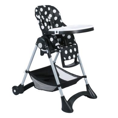 Hochstühle - CHIC 4 BABY Hochstuhl JOKO Dots black schwarz  - Onlineshop Babymarkt