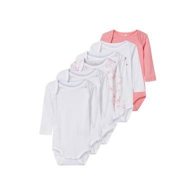 Babywaesche - name it Girls Body 6er Pack geranium pink – rosa pink – Gr.98 – Mädchen - Onlineshop Babymarkt