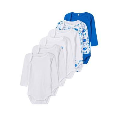 Babywaesche - name it Boys Body 6er Pack strong blue – blau – Gr.50 – Jungen - Onlineshop Babymarkt