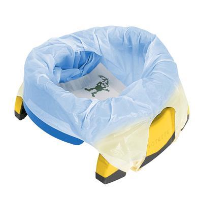 2v1 POTETTE plus Cestovní nočník modrá / žlutá od 18. měsíce