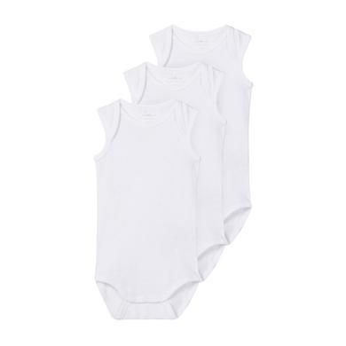 name it Body ärmellos 3er Pack bright white weiß Gr.62 Unisex