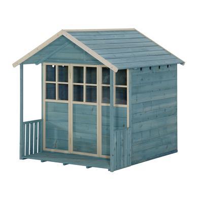 Spielhäuser und Sandkästen - plum ® Holz Spielhaus, türkis blau  - Onlineshop Babymarkt