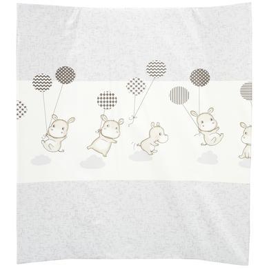 Wickelmöbel und Zubehör - Alvi Wickelauflage 2stg. Keil Folie Hippo silber 68 x 60 cm  - Onlineshop Babymarkt