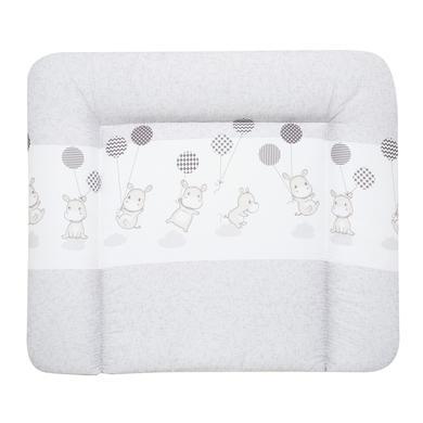 Wickelmöbel und Zubehör - Alvi Wickelauflage Kuschel Folie Hippo silber 69 x 69 cm grau  - Onlineshop Babymarkt