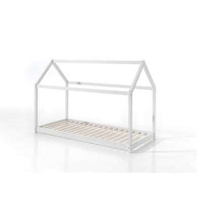Kinderbetten - VIPACK Hausbett Cabane 90 x 200 cm weiß  - Onlineshop Babymarkt