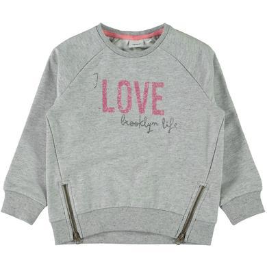Minigirloberteile - name it Girls Sweatshirt Baduelle grey melange - Onlineshop Babymarkt