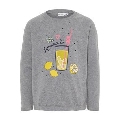 Minigirloberteile - name it Girls Sweatshirt Venus grey melange - Onlineshop Babymarkt