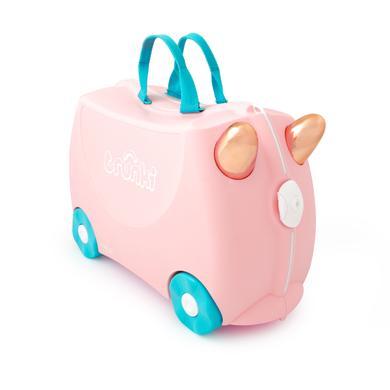 trunki dětský kufřík + odrážedlo Flamingo Flossi - pestrobarevná
