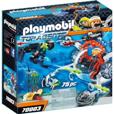 Playmobil 70003 Spy Team Mini ponorka
